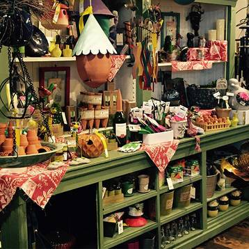 Plymouth retail store with potter, unique shopping items, art and decorations